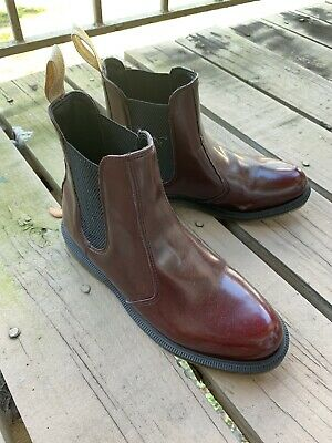 7c6df2d7076 DR. MARTENS 2976 Vegan Chelsea Cherry Red Doc Boots Women's US 9  NewButWornOnce
