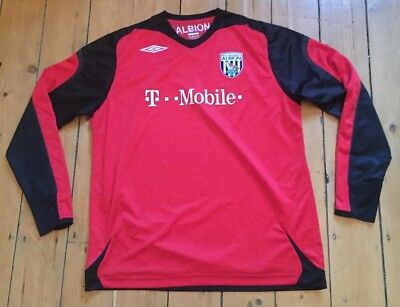 Mens Xl Extra Large L/s West Bromwich Brom Football Top Shirt Umbro Albion