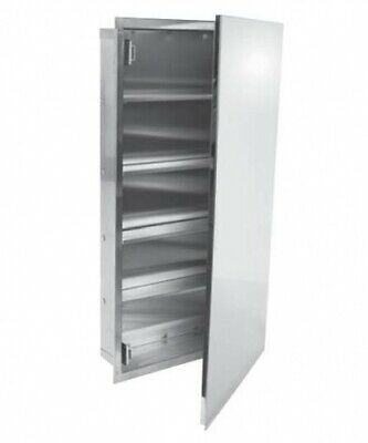 New Bradley Aged Care 7176 Medicine Cabinet, 4 Shelves - Polished Stainless