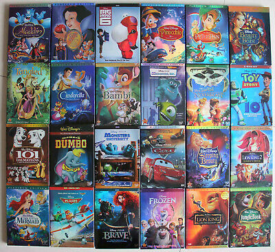 Lot of 16 Disney Movies:Aladdin Planes Lion king Monsters Snow White Frozen