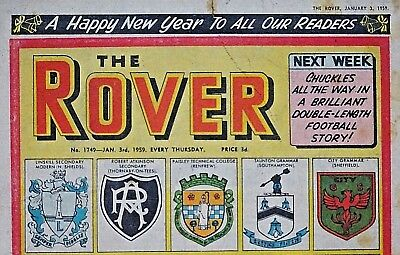 ROVER - NEW YEAR 1959 !! 3rd JANUARY 1959 - RARE & COLLECTABLE !!..beezer beano