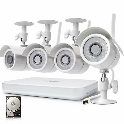 Zmodo 8CH Wireless Security Camera System - 1080P HDMI NVR No Hard Drive, 4 x ..