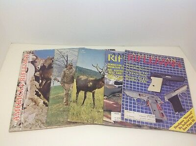 Vintage Magazine Lot ~ THE AMERICAN RIFLEMAN ~ 5 Issues
