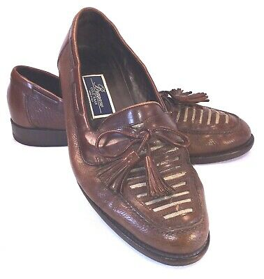 bcb8054e48 Bragano By Cole Haan Mens Tassel Loafers Brown Leather Made Italy Sz 9D  Slip-ons