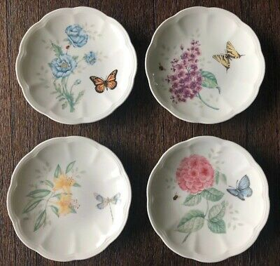 Lenox Butterfly Meadow Party Plates Set of 4 NEW WITH NO TAG
