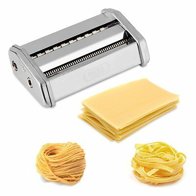 Pasta maker with 7 adjustments for spaghetti, pasta and lasagna |