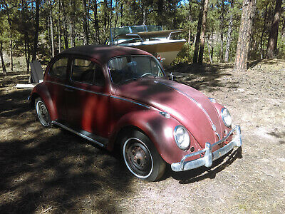 1959 Volkswagen Beetle - Classic  Volkswagen Beetle 1959 German Writing, Horse Hair Seats, Factory Radio Blank