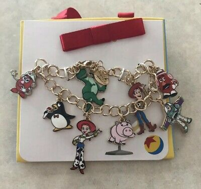 Disney Parks Collection Jewelry Pixar Toy Story Character Charm Bracelet NEW