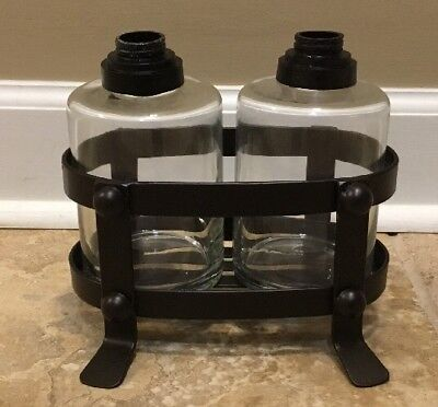 NEW Pottery Barn Vintage Blacksmith Soap/Lotion Caddy *No Pumps*