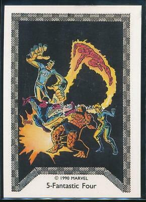 1990 Marvel Spider-Man Team-Up Trading Card #5 Fantastic Four