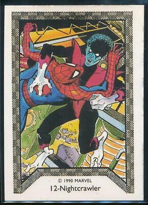 1990 Marvel Spider-Man Team-Up Trading Card #12 Nightcrawler
