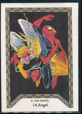 1990 Marvel Spider-Man Team-Up Trading Card #14 Angel