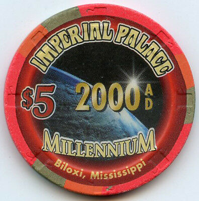 Imperial Palace Hotel/Casino, Biloxi, MS -1999 - $5 Chip - MILLENNIUM 2000