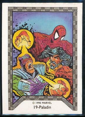 1990 Marvel Spider-Man Team-Up Trading Card #19 Paladin