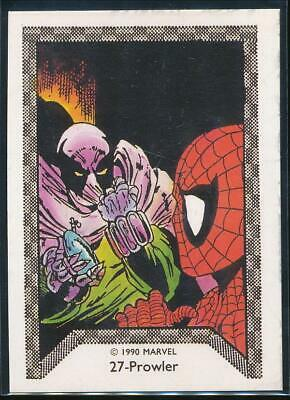1990 Marvel Spider-Man Team-Up Trading Card #27 Prowler