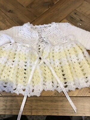 Hand Knitted Baby Cardigan 000 BNWOT
