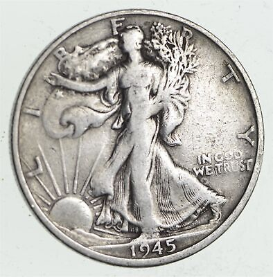 Strong Feather Details - 1945-S Walking Liberty Half Dollar *506