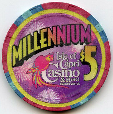 Isle of Capri Hotel/Casino, Bossier City, LA -1999 - $5 Chip -MILLENNIUM 2000