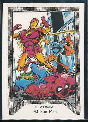 1990 Marvel Spider-Man Team-Up Trading Card #43 Iron Man