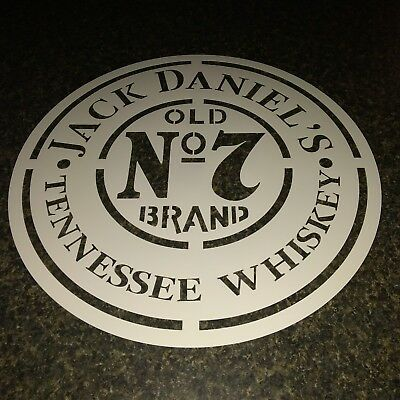 JACK DANIELS Airbrush Stencil  1 Layer 22x22 BARREL OR KASK CASK PAINTING