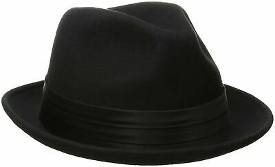 789265d362948c STACY ADAMS MEN'S Crushable Wool Felt Snap Brim Fedora Hat Navy ...