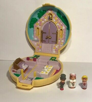 Clever Vintage Polly Pocket 1989 Polly's Pony Club With Figures Dolls & Bears