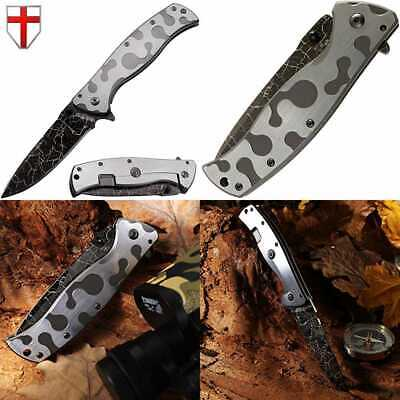 Pocket Folding Knife For Men Camo Knifes Outdoor Military Utility Tact Color Duo