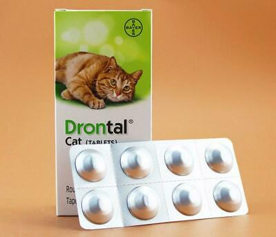 Bayer Drontal Plus for Cat Dewormer Allworms Round and Tap Worm Health 4-40 Tabs