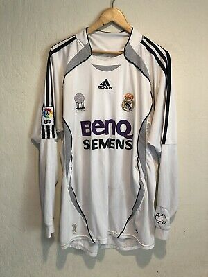 best service d2d3b 22a9d DAVID BECKHAM REAL Madrid Long Sleeve Soccer Football Jersey Size XL Stained