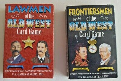 New Lawmen & Frontiersmen Of The Old West Playing Cards...2 Decks...mint!!