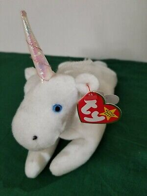 7183581f9a8 TY BEANIE BABY MYSTIC UNICORN IRIDESCENT HORN AND ERRORS! -  9.50 ...