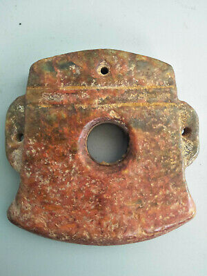 Hongshan culture ,collectibles,Chinese old  jade pendants J460