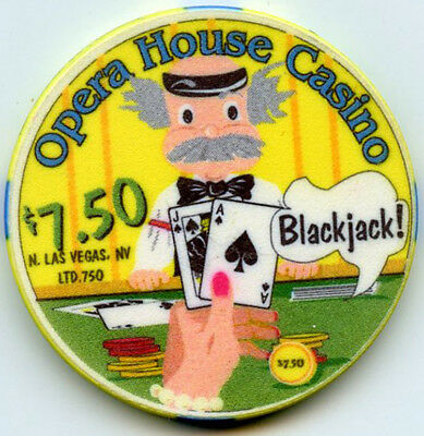 Opera House Casino, N.Las Vegas - $7.50 Chip - 1999