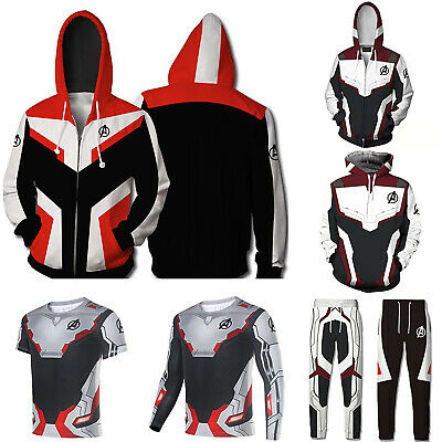 Avengers Endgame Hoodies Sweatshirt Jacket Coat Pant Cosplay Advanced Tech Suit