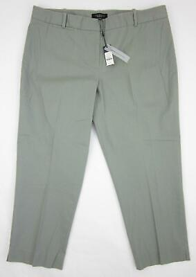 NEW  TALBOTS Womens Stretch Cropped Capri Pants NWT olive Green  4P 6 6P 16P