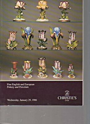 Christies 1986 Fine English & European Pottery and Porcelain