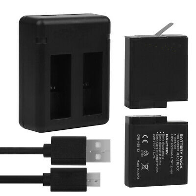 2PCS GoPro Rechargeable Battery 1220mAh for HERO5/6/7 Black and Hero 2018
