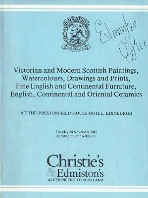 Christies November 1982 Victorian Paintings, Continental Furniture & Ceramics
