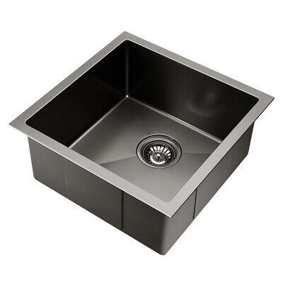 Cefito Square Handmade Nano Stainless Steel Sink Laundry Kitchen 440x440mm 3mm