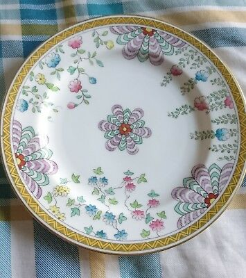 "Rare ANTIQUE Royal Worcester 7"" Stylised Floral Plate, Ca 1912 Puce Mark 20Dots"