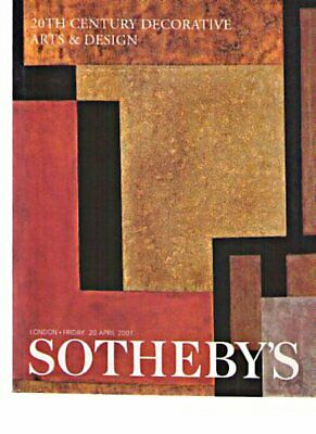 Sothebys 2001 20th Century Decorative Arts, Art Deco
