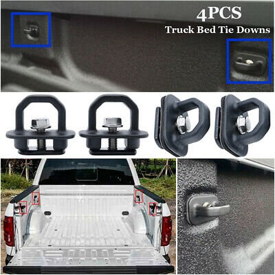 4Pcs/Kit Car Tie Down Anchor Truck Bed Side Wall Anchors For GMC Chevy Useful
