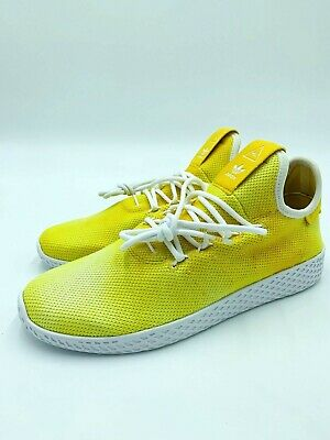c407f42862eb8 NWT Adidas Mens PW HU HOLI Tennis Pharrell Williams Yellow White DA9617  Size 8