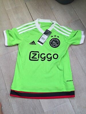 BRAND NEW WITH TAGS Ajax 2015-16 Boys 7-8 Years Away Football Shirt NEW