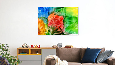Amazing Abstract Colorful Leaves Art Print Home Decor Wall Art choose your size
