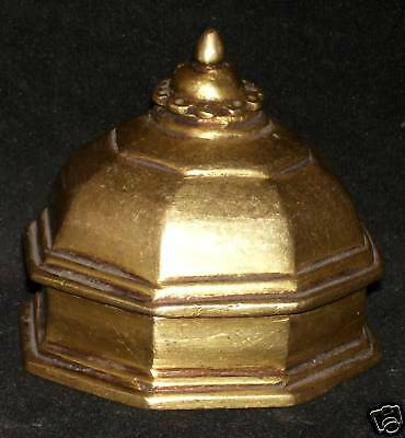 Antique Traditional Indian Ethnic Bronze 'Mughal Ink pot' Rare  #CHRISTMAS OFFER