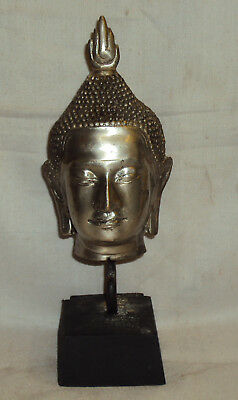 Antique Traditional Asian Brass Buddha Head Rare Collectible #1