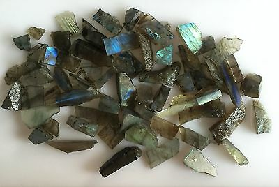 499Ct Natural Labradorite Rough Slice Gems Flashy Loose Lot Raw Mineral Specimen