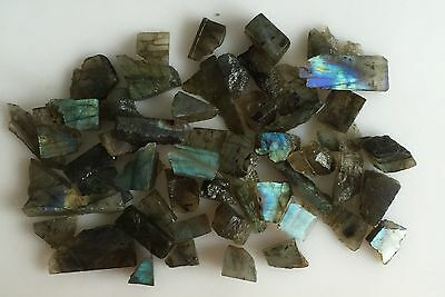 454Ct Natural Labradorite Rough Slice Gems Flashy Loose Lot Raw Mineral Specimen