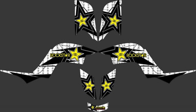 Hot Star New Style Decal Sticker Graphics Kits For Yamaha Raptor 660 Atv Quality